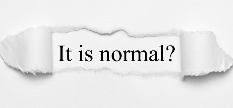 No és normal que sigui normal